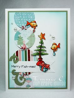 Christmas card made with OCL Sea-sons Greetings