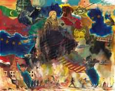 Thomas Braida, 1982 Sicchè-Picòt, 2016 Tecnica mista su carta, 40,6 x 50,8 cm. Galleria civica di Modena, nuova acquisizione