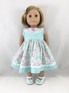 Fits American Girl Doll Clothes 18 Inch Aqua Hot by dressurdolly2