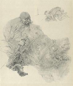 Hans Bellmer, drawing, 1946