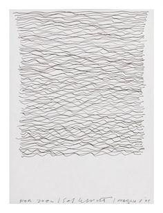 HORIZONTAL SCRIBBLE LINES  By Sol LeWitt