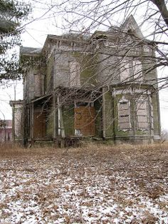 Abandoned house in Nova, Ohio. Nova is an unincorporated community in central Troy Township, Ashland County, Ohio.