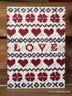 Love and Hearts greeting card #greetingcard #Valentine #hearts #BeingKnitterlycard