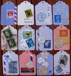 Inspiration: mail art gift tags.
