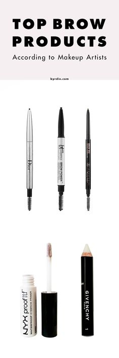 5 makeup artists share their go-to brow products