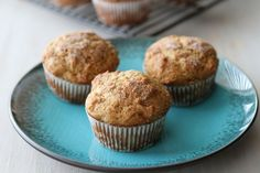 Banana, Peanut Butter and Honey Muffins