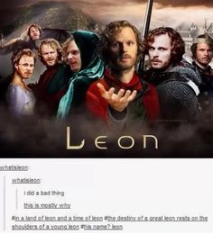 Leon is everything. Leon will find you. Leon sees you. Everything will be Leon. Benedict Sherlock, Benedict Cumberbatch, Colin Morgan, Merlin Memes, Merlin Funny, Merlin Merlin, Merlin Quotes, Merlin Show, Sherlock Quotes