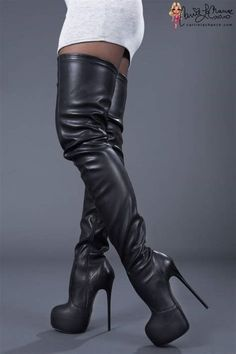 Best looking OTK Boots I've seen for ages. #blackhighheelsoutfit