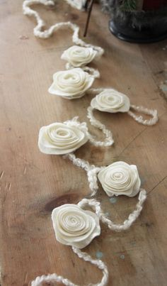 DIY Felt Flower Garland (and other ideas for flowers)