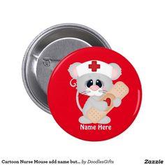 Cartoon Nurse Mouse add name button