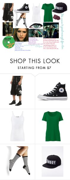 """""""Sk8er boi~Avril Lavigne"""" by shadow-948 ❤ liked on Polyvore featuring Tripp, Converse, Vince, Lands' End, Steve Madden, Wildfang and Brioni"""