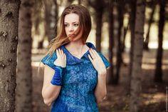 """Купить Валяное платье """"Айсберг"""" - синий, одежда, валяное платье, валяная одежда, платье валяное"""