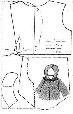 Одежда для куклят - выкройки и схемы / Мастер-классы, творческая мастерская: схемы, выкройки кукол / Бэйбики. Куклы фото. Одежда для кукол