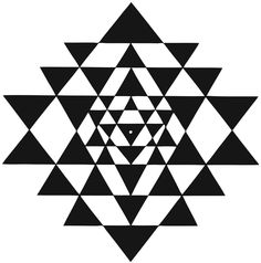 Sri Yantra  Yantras come from the more than 2000 years old tantric tradition. A Yantra is the yogic equivalent of the Buddhist Mandala.  Sri Yantra is called the mother of all yantras because all other yantras derive from it.   The Sri Yantra is a configuration of nine interlacing triangles centred around the bindu (the central point of the yantra), drawn by the super imposition of five downward pointing triangles, representing Shakti, the female principle and four upright triangles…