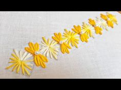Simple Border Design for Sleeves/Neckline (Hand Embroidery Work) Diy Easy Embroidery, Simple Hand Embroidery Designs, Cushion Embroidery, Hand Embroidery Patterns Free, Border Embroidery Designs, Hand Embroidery Videos, Hand Embroidery Tutorial, Embroidery Flowers Pattern, Embroidery Works