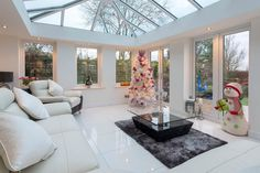 Host fabulous holiday parties with this stunning Ultraframe Gable End Conservatory House Extension House Extension Plans, House Extension Design, Glass Extension, Rear Extension, Extension Ideas, Modern Conservatory, Conservatory Kitchen, Conservatory Roof, Conservatory Interiors