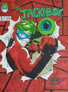 "tomatostyle: "" @therealjacksepticeye soon… A drawing of JACKIEBOY MAN!!!!!! This is not a real comic book cover tho… But if it was, would you read it? """