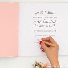 Álbum no oficial de nuestra boda - Mr. Wonderful