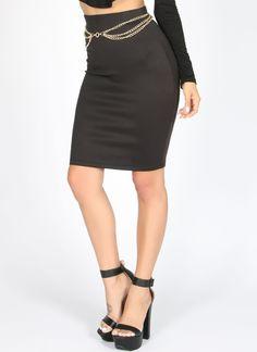 Black Lexy Skirt