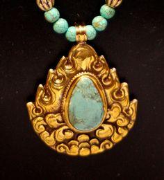 pendant necklace handmade in Nepal by SilkRoadJewelry