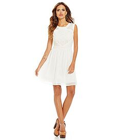 C m white dress dillards