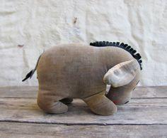 vintage 1960s velvet Eeyore plush stuffed toy // Winnie the Poo // Mid Century Japan Disneyana