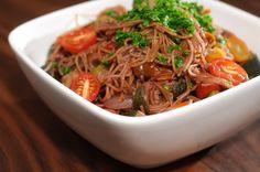 Peppery Red Wine Capellini – use Marques de #Caceres Red for this tasty dish!