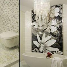 S101 lotus preto e branco SICIS mosaico de vidro imagem corte banheiro tv fundo do mosaico parede taxa de envio MSG ajustar 71.16