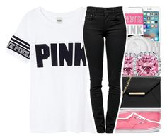 """""""•pink•"""" by abigail-petion ❤ liked on Polyvore featuring adidas Originals, Kobelli, MICHAEL Michael Kors, Vans, Victoria's Secret and Proenza Schouler"""
