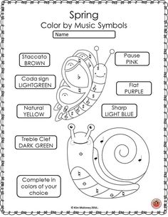 Music lessons  | Music worksheets! This set contains 26 SPRING Music Theory Coloring Activities! Pitch, music dynamics, music symbols and more! Fun and educational for your music class! ♫ CLICK through to read more or RE-PIN for later! ♫    #musiceducation