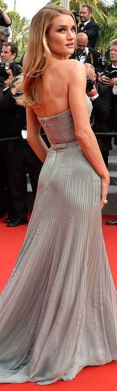 Rosie Huntington-Whiteley in Gucci at the premiere of The Search. #Cannes
