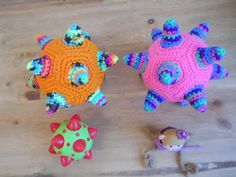 Dodecaedro estrellado, dodecahedron stellated, science and crochet!