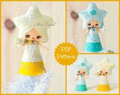 PDF Pattern. Christmas Star doll. by Noialand on Etsy https://www.etsy.com/listing/250283846/pdf-pattern-christmas-star-doll