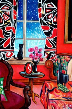 The Famous Painting: Lounging in The Patterns of Matisse, Painting within Painting, by k Madison Moore