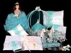 Find quinceanera packages and special quinceanera accessories in popular bundles! Save big with our special quinceanera packages! Quinceanera Traditions, Cinderella Quinceanera Themes, Cinderella Theme, Quinceanera Cakes, Quinceanera Dresses, Cinderella Doll, Party Planning, Wedding Planning, Toast