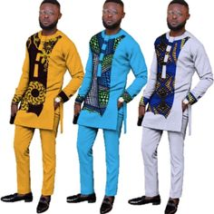 Natural Autumn Mens African Clothing Dashiki Men 2 Pieces Top and Pants Set African Wear Styles For Men, African Shirts For Men, African Attire For Men, African Clothing For Men, Traditional African Clothing, Couples African Outfits, African Dresses Men, Latest African Fashion Dresses, African American Fashion