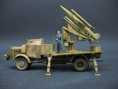 Michael Baldeweg Mercedes-Benz L4500 with Flakrocket HS 117 Schmetterling in fire position. Scale 1:35 full resin model