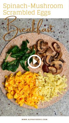 Good Healthy Recipes, Healthy Breakfast Recipes, Healthy Snacks, Vegetarian Recipes, Cooking Recipes, Breakfast Tortilla, Breakfast Wraps, Amazing Food Videos, Tortilla Wraps