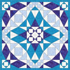 Instant download quilt pattern pdf  Stormy Blues  by TJsQuilting, $5.99