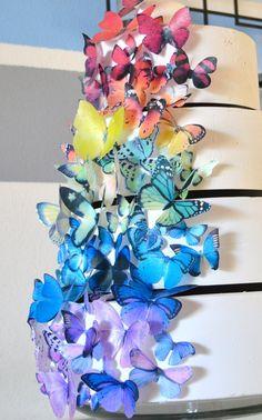 Wedding Cake Topper comestibles papillons pour jeu par SugarRobot