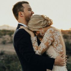 Bride and groom + illusion wedding dress Wedding Goals, Wedding Pictures, Candid Wedding Photos, Perfect Wedding, Dream Wedding, Lace Wedding, Dear Future Husband, Photo Couple, Marry You