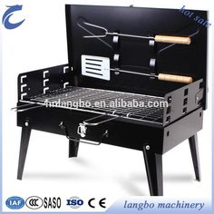 Folding Barbecue Stove Portable Thickening Barbecue Pits Outdoor Home Trumpet Charcoal BBQ Grill