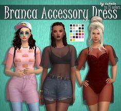 Tukete: Branca Accessory Dress • Sims 4 Downloads