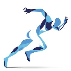 Trendy stylized illustration movement, running man, line vector silhouette of running man vector art illustration Running Art, Running Man Logo, Sports Graphic Design, Free Vector Art, Man Vector, Ab Workout At Home, Anatomy Art, Foto Art, Exercise Motivation