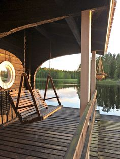 Tiny House, Small Houses, Summer Feeling, Lake Life, Porch Swing, Life Is Good, Beach House, Cottage, Swings