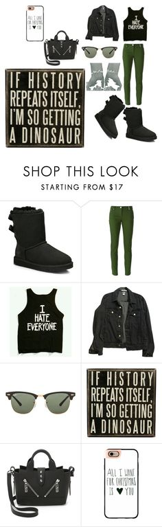 """""""IF green is ugly then what is our planet???"""" by princess-imani-tyler ❤ liked on Polyvore featuring UGG Australia, Kenzo, American Apparel, Ray-Ban, Dot & Bo, Casetify and RealTalk"""