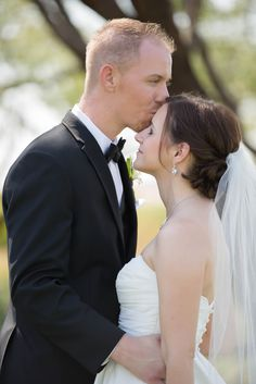 Trilogy at Vistancia Weddings | Arizona Wedding Venue | Bride & Groom Poses | Love | Couple Poses | Kiss on the forehead | www.weddingsatvistancia.com