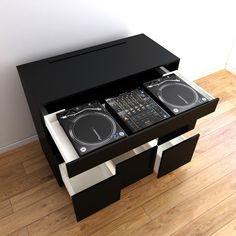 Boys Game Room, Dj Table, Hide Cables, Vinyl Record Collection, Dj Setup, Dj Gear, Studio Gear, Dj Booth, Dj Equipment