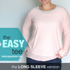 Tweet Pin It ***Check out the original easy tee post for basic construction tips and free pattern. Find all 8 easy tee variations linked at the end of this post.*** I've told you before that I love these easy tees because they're the perfect naptime project – each one takes less than two hours start …
