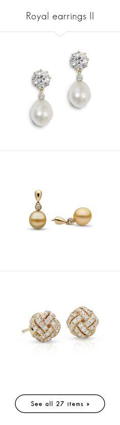 """""""Royal earrings II"""" by dresslikearoyal ❤ liked on Polyvore featuring jewelry, earrings, bijoux, ювелірні вироби, pearl earrings jewellery, diamond jewellery, pearl diamond jewelry, pearl jewellery, white pearl drop earrings and gold"""